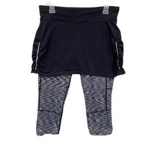 Athleta Contender 2 In 1 Skirted Capri leggings